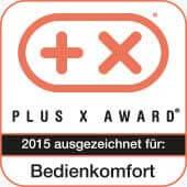 Plus X Award Auszeichnung für Bedienkomfort 2015