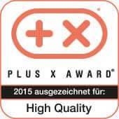 Plus X Award Auszeichnung für High Quality 2015