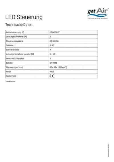 Led Steuerung Technisches Datenblatt deutsch