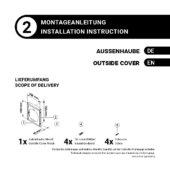 Montageanleitung – Außenhaube