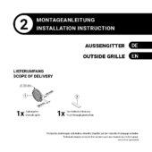 Montageanleitung – Außengitter