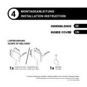 Montageanleitung – Innenblende Klappe